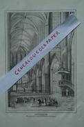 87 - LIMOGES-INTERIEUR VUE GENERALE DU CHOEUR DE LA CATHEDRALE  - TRES BELLE LITHOGRAPHIE TRIPON XIXE - - Lithographies