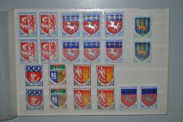 France 1962/66 Armoiries Blocs 4 + Paires MNH - 1941-66 Stemmi E Stendardi