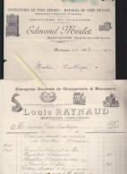 Montguyon Charente Inferieure - Ebenisterie Edmond Merlet / Louis Raynaud Charpenterie Menuiserie (embleme Compagnons) - Frankrijk