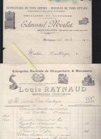 Montguyon Charente Inferieure - Ebenisterie Edmond Merlet / Louis Raynaud Charpenterie Menuiserie (embleme Compagnons) - France