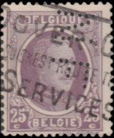 Belgique 1921. ~ YT 198 Perforé - 25 C. Albert 1er