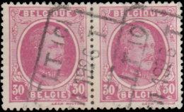 Belgique 1921. ~ YT 200 Paire - 30 C. Albert 1er