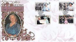 (92568) Tuvalu Benham FDC Queen Mother Century 16 August 1999