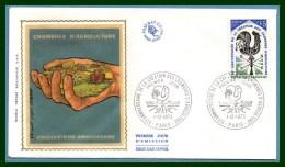 FDC Silk Soie Chambre D' Agriculture 1973 N° 1778 Coq épi Fruit - Agricoltura