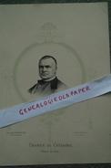 32- BERGELLE-COULOUME- - RARE LITHOGRAPHIE FRAILLERY  - GRANIER DE CASSAGNAC DEPUTE DU GERS- MILIEU DU XIXE - Lithographies