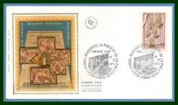 FDC Silk Soie Musée Postal Paris 1973 N° 1782 - FDC