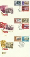 """Sowjetunion  3609-3616 """"7 Briefmarken Mit Abbildungen Von Leningedenkstätten """""""" Ersttagssonderstempel Mi.:2,50 €"""