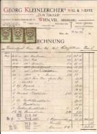 1 Alte Rechnung 16.9.1938 In Reichsmark Von Wien An Herrn Haberfellner Wien Mit 3 Augeklebten Stempelmarken 10, 20 + 50 - Autriche