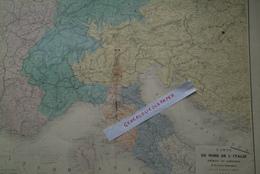 CARTE DU NORD DE L' ITALIE -PIEMONT LOMBARDIE-1859-MILITARIA- AUGUSTE LOGEROT-PARIS-CORSE-VENISE-CROATIE- - Geographische Kaarten