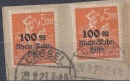 DR Briefstück Minr.2x 258 Cassel 29.9.23 - Deutschland