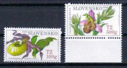 Slowakei 'Bienenragwurz U. Frauenschuh' / Slovakia 'Bee Orchid & Lady's Slipper Orchid' **/MNH 2008 - Orchideen