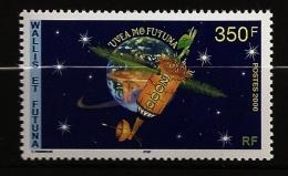 Wallis & Futuna 2000 N° 535 ** Uvea, Espace, Satellite, Etoiles, Terre, Futur, Kava, Équilibre Du Monde, Boisson, Plat - Wallis Und Futuna