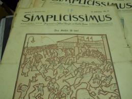 19 SEPTEMBER  1910    -  SIMPICISSIMUS  -1910 - Riviste & Giornali