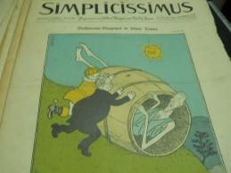 13 JUNI  1010    -  SIMPICISSIMUS  -1910 - Riviste & Giornali