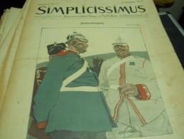 23 MAI  1010    -  SIMPICISSIMUS  1910 - Riviste & Giornali