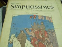 21 NOVEMBER    -  SIMPICISSIMUS  -1910 - Riviste & Giornali
