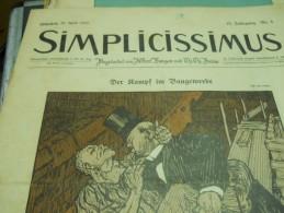 25 APRIL    -  SIMPICISSIMUS  1910 - Riviste & Giornali