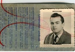 CAMION Photo Carte Identité Photobooth Automobile BERLIET Ticket Pointage 1957 Jeune Homme Garçon Rare Travail - Documents Historiques