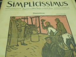 9 MAI    -  SIMPICISSIMUS    1910 - Riviste & Giornali