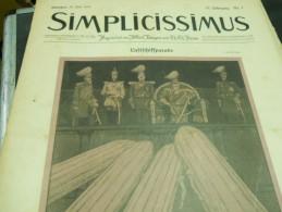 16 MAI    -  SIMPICISSIMUS  1910 - Riviste & Giornali