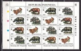 Indonesia 1996,16V In Sheetlet,Sumatra Rhino.neushoorn,nashorn,MNH/Postfris(L2711)
