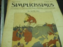 25 JULI   -  SIMPICISSIMUS -1910 - Riviste & Giornali