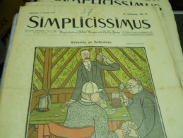 1 AUGUFT  -  SIMPICISSIMUS -1910 - Riviste & Giornali