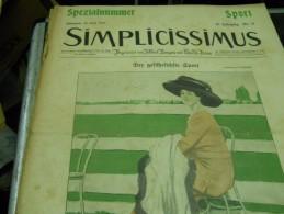 20 JUNI  -  SIMPICISSIMUS   - 1910 - Riviste & Giornali