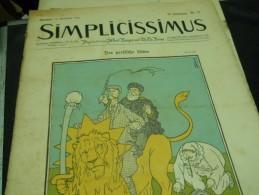 14 NOVEMBER  -  SIMPICISSIMUS   - 1910 - Riviste & Giornali