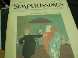 7 NOVEMBER  -  SIMPICISSIMUS   - 1910 - Riviste & Giornali