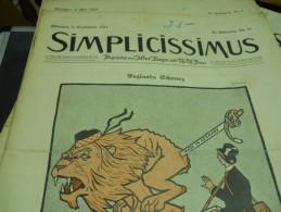 8 SEPTEMBER  -  SIMPICISSIMUS   - 1914 - Riviste & Giornali
