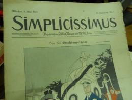 4 MAI -  SIMPICISSIMUS   - 1914 - Riviste & Giornali