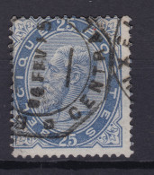 N° 40 COB 40.00  TELEGRAPHIQUE BXL CENTRAL - 1883 Leopold II
