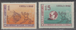 (dcbv-1710)  Albania  -  Albanie      Mi 673-74      1962    MH - 1962 – Chile