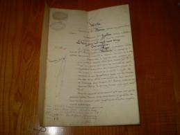 Acte Notarié: Me Morice Notaire Au Grand Lemps,Isère Pour Achat Propriété à Colombe:Cuetan,Sabot,Grand Berchiat,Ausière - Manuscripts