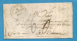 Eure - Pacy Sur Eure Pour Dinan (Cotes Du Nord). CàD Type 13 + Taxe 6. 1838 - Marcophilie (Lettres)