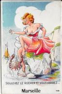 Carte à Système écrite 1956  - Soulevez Le Rocher Et Vous Verrez MARSEILLE - Zonder Classificatie