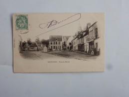 Carte Postale Ancienne : PONTGOUIN : Place Du Marché  Animé, Timbre 1907 - Other Municipalities