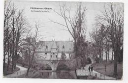 CHALONS SUR MARNE EN 1907 - LE CANAL DU JARDIN AVEC PERSONNAGES - CPA VOYAGEE - Châlons-sur-Marne