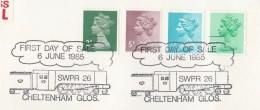 1985 Cheltenham GB Stamps EVENT COVER Pmk  STEAM TRAIN  Railway - Trains