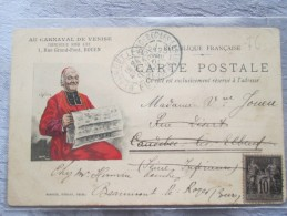 ROUEN . CARTE PUBLICITAIRE . MAGASIN AU CARNAVAL DE VENISE . CHEMISERIE 1 RUE GRAND PONT - Rouen