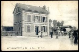 Cpa  Du 62 Savy Berlette La Gare ...  Canton Avesnes Le Comte , Arras    JIP24 - Avesnes Le Comte