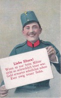 AK Liebe Eltern! - österr. K.u.k. Armee - Humor - 1. WK (25365) - Humor