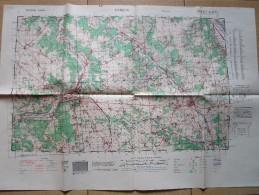 Carte D´Etat-Major éditée Pour Les Anglo-Américains - EVREUX - 1939-45