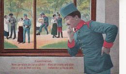 AK Kasernarest - österr. Soldat - K.u.k. Armee - 1. WK (25371) - Humor