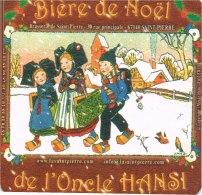 ILLUSTRATEUR HANSI. CARTON SOUS BOCK DE BIERE DE NOEL DE L ONCLE HANSI - Hansi