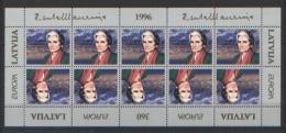 Lettonia 1996 Unif.387 Minifoglio Di 10 **/MNH VF - Lettonie