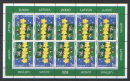 Lettonia 2000 Unif. 497 Minifoglio Di 10 **/MNH VF - Lettonie