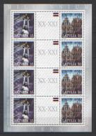 Lettonia 2000 Unif. 507A/08A Minifoglio Di 4 **/MNH VF - Lettonie
