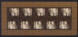 Lettonia 2003 Unif. 576 Minifoglio Di 10 **/MNH VF - Lettonie